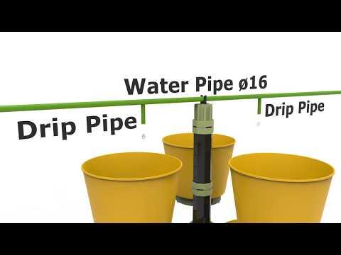 Vertical Garden-Parts/csepegtető öntözés